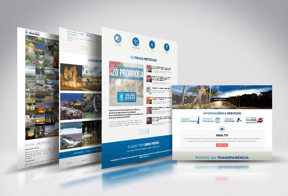 Site Prefeitura de Caldas Novas