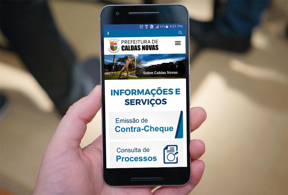 Site Mobile Prefeitura de Caldas Novas