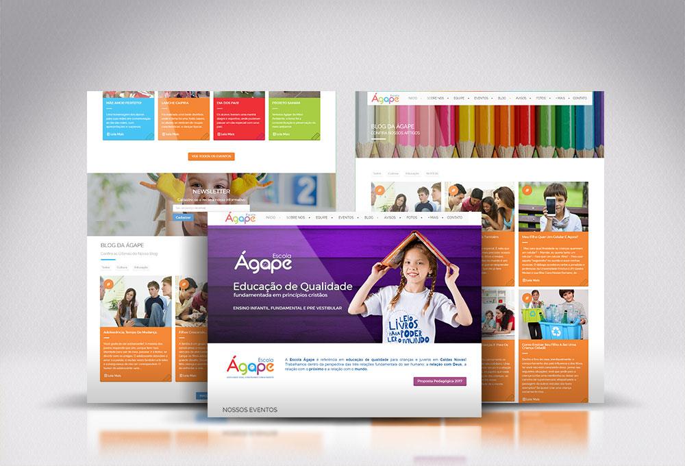 Site Escola Ágape